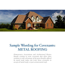 Sample wording for HOA covenants cover