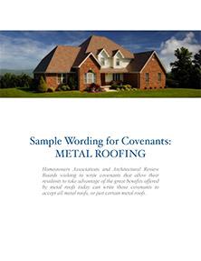 Sample wording for HOA covenants cover